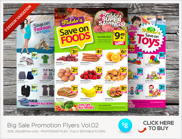 alternative product promotion flyer template