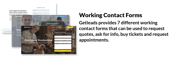 Getleads - Landing Page Pack with Page Builder - 9