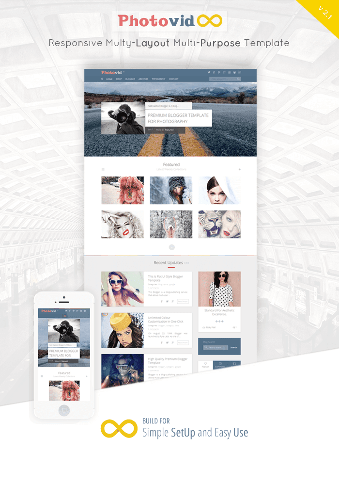 Photovid video and photography blogger template by raythemes designed template for anyone who wants to make great website or blog not only videophotography its also 100 compatible for others blog or websites maxwellsz