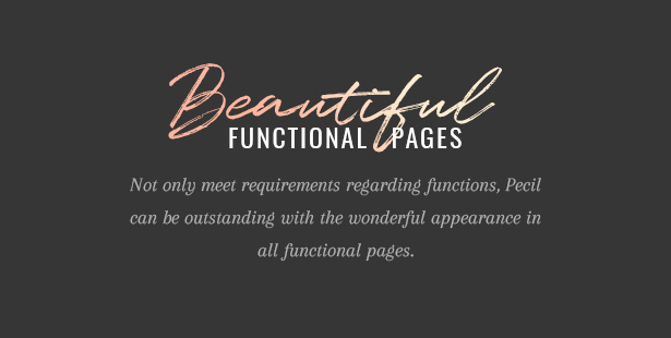 Pecil Beautiful Functional Pages
