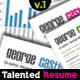 Talented Resume V.1  - GraphicRiver Item for Sale