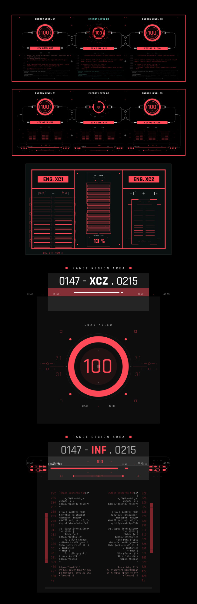 AE脚本-500个HUD高科技赛博朋克UI科幻界面元素动画预设包 Cyberpunk HUD UI 500+ 已修复中文版AE表达式报错插图35