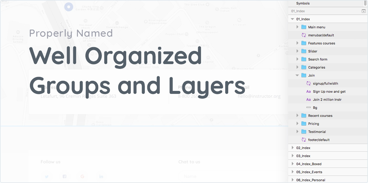 Properly Named Well Organized Groups and Layers