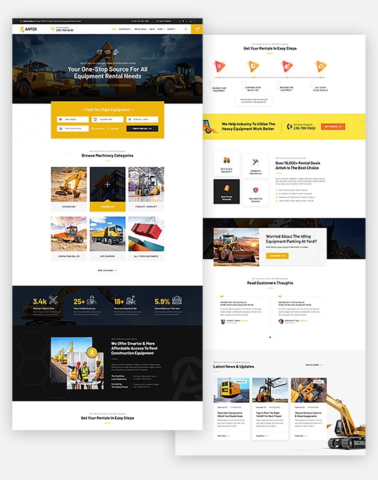Antek - Three Home Pages