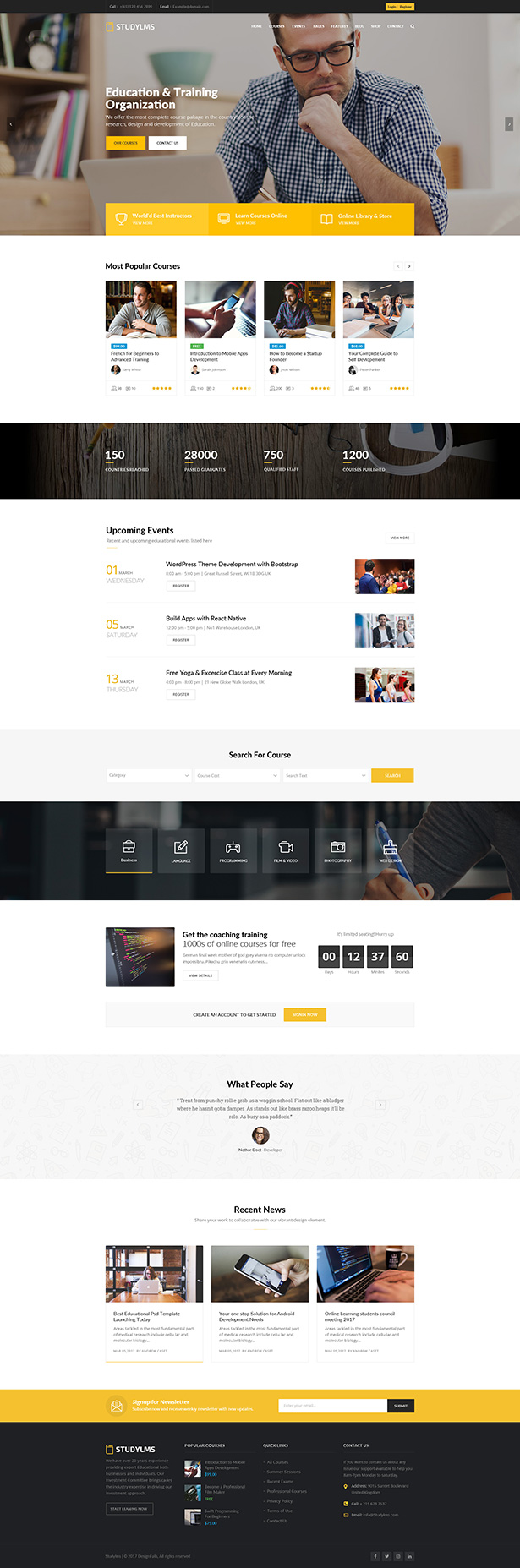Studylms - Education LMS & Courses HTML Template
