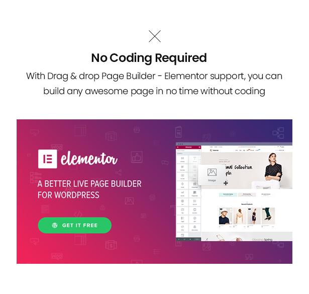 No coding Elementor Venoma Fashion Store WordPress Theme