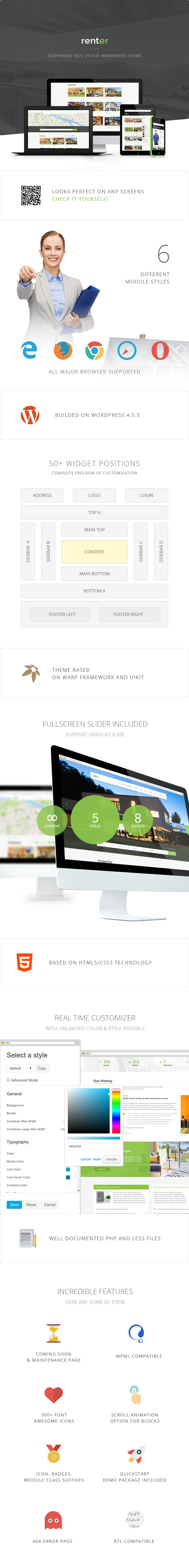 Renter — Property Rent/Sale Real Estate Agency & Realtor Responsive WordPress Theme - 3