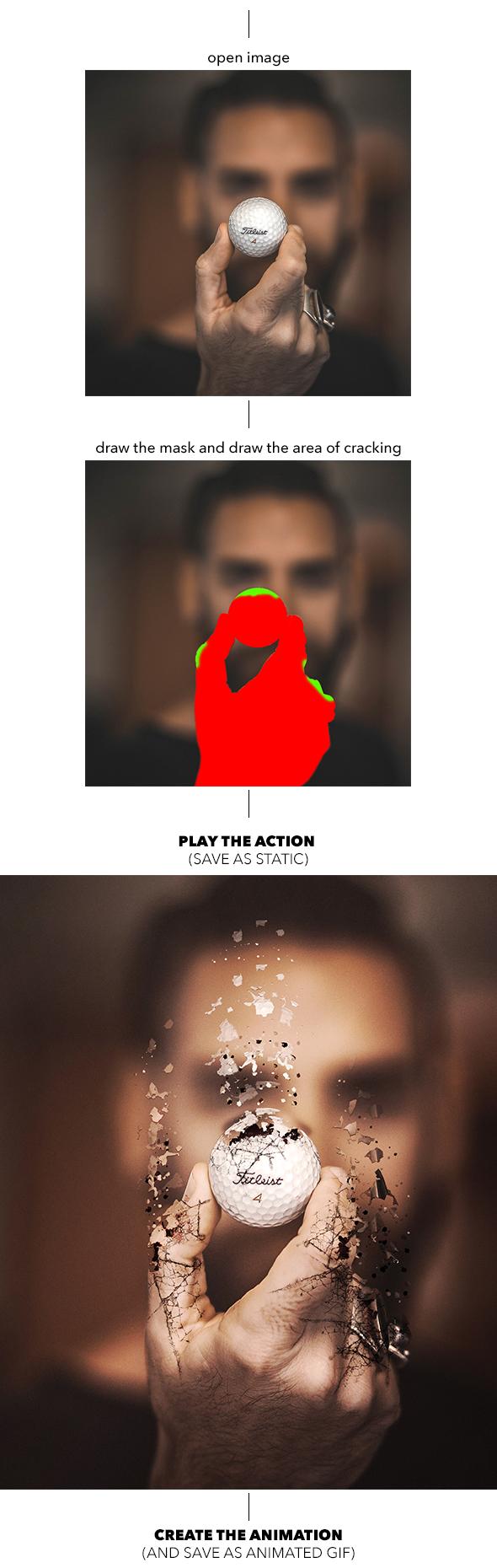 Gif Animated Crack Kit Photoshop Action - 1