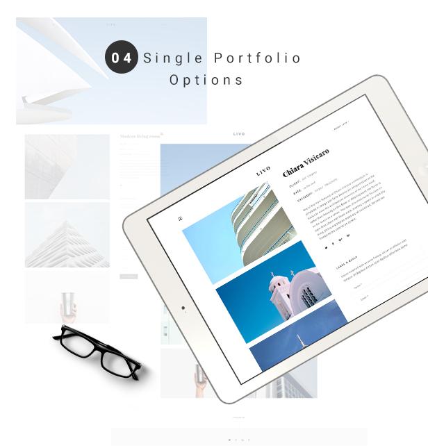 Livo - A Clean & Minimal Portfolio WordPress Theme - 4