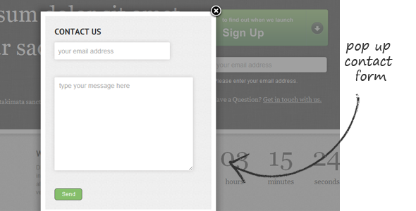 start up coming soon page with countdown by designedbyben themeforest