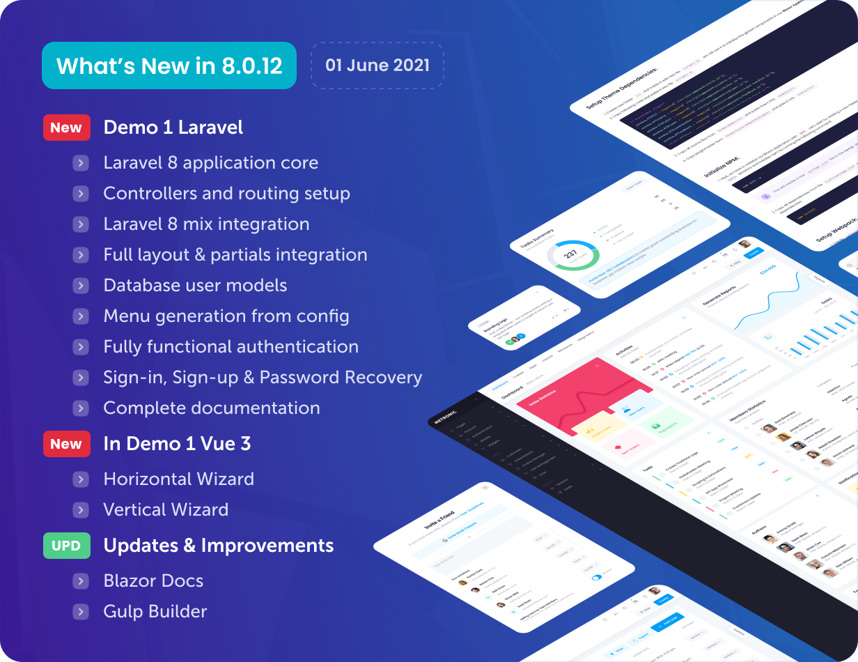 Metronic - Bootstrap 4/5 HTML, VueJS, React, Angular & Laravel Admin Dashboard Theme - 22
