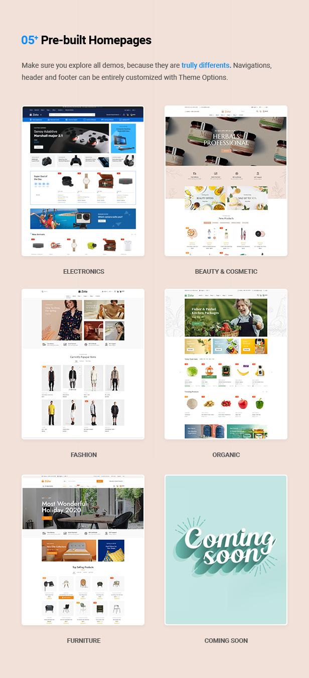 Zota - Elementor Multi-Purpose WooCommerce Theme - 8