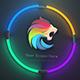 cinematic neon intro logo reveal template