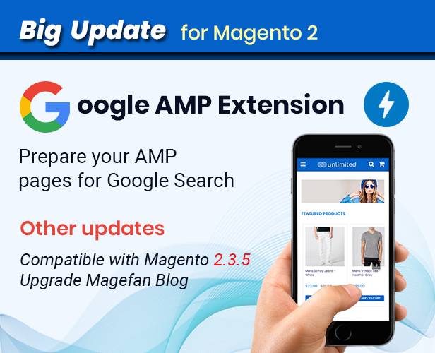 Infinit - Google AMP extension for Magento 2