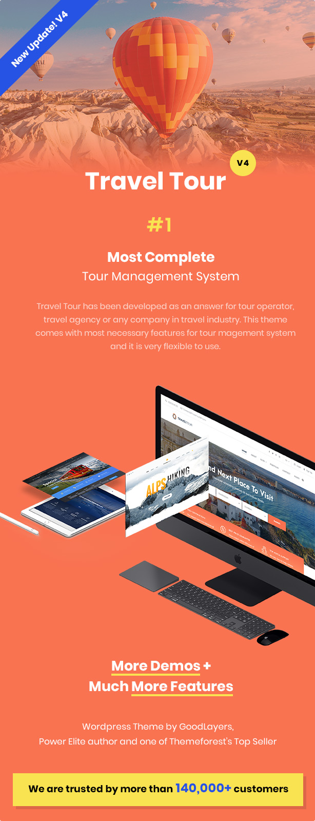 Travel Tour - Tour Booking, Travel Booking WordPress Theme - 1