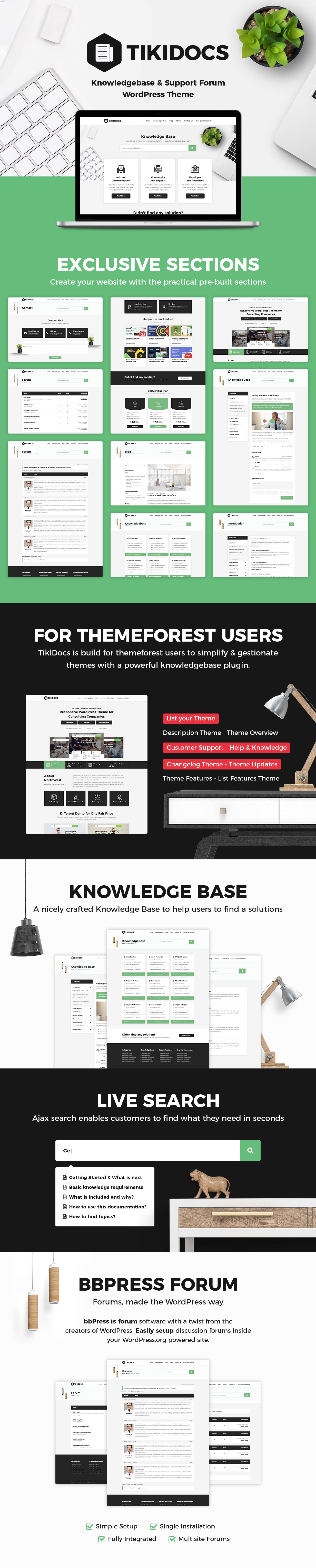 Tikidocs - Knowledgebase & Support Forum WordPress Theme - 1