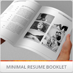 Minimal Resume Booklet & Cover Letter