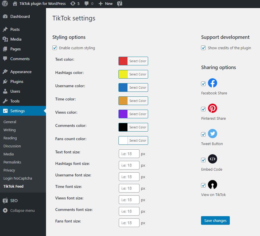 TikTok feed plugin for WordPress - 3