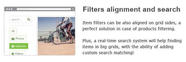 filters and search