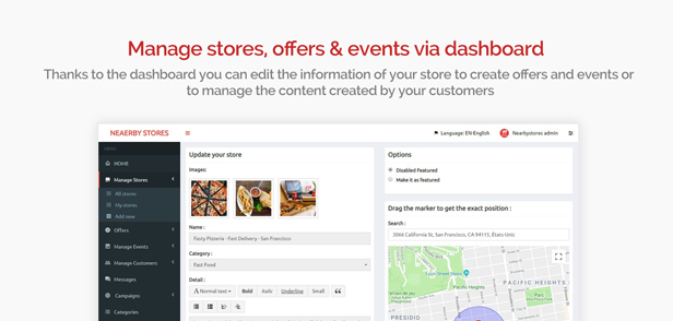 NearbyStores - Offers, Events & Chat Realtime + Firebase 1.8 - 10