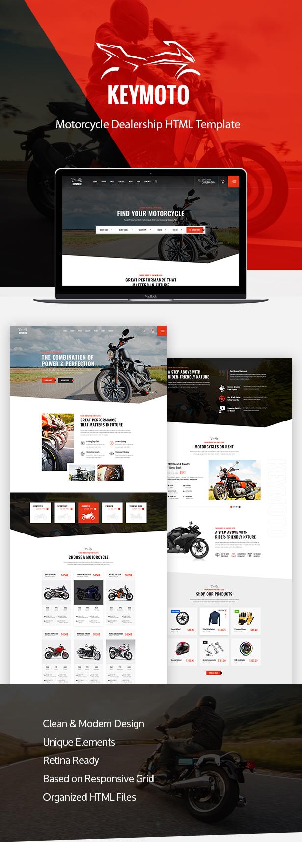 Keymoto - Motorcycle HTML Template - 1