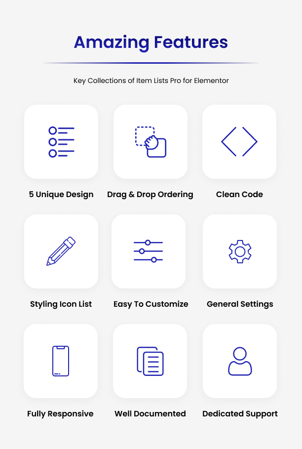 Amazing Features Of Item Lists Pro for Elementor