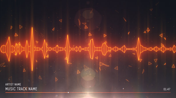 SoundVisible Audio Spectrum Visualizer | Linear Spikes Template | Color Preset: Lava