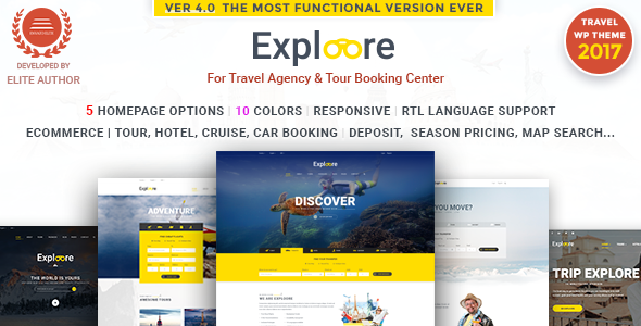 Tour Booking Travel WordPress Theme | EXPLOORE Travel