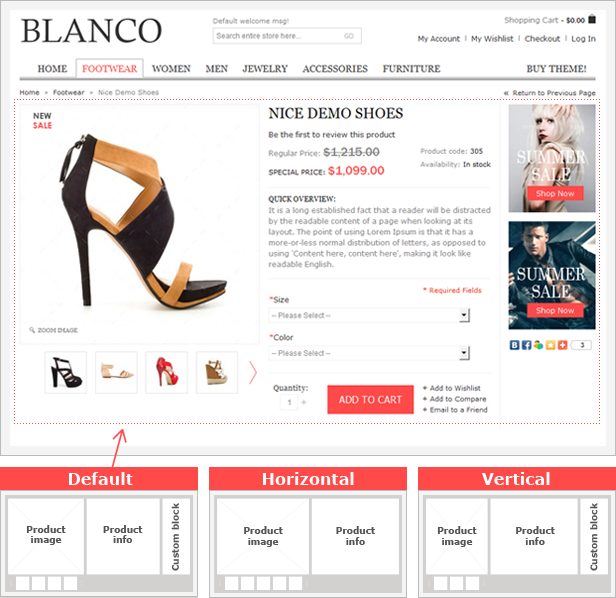 Product Page Blanco