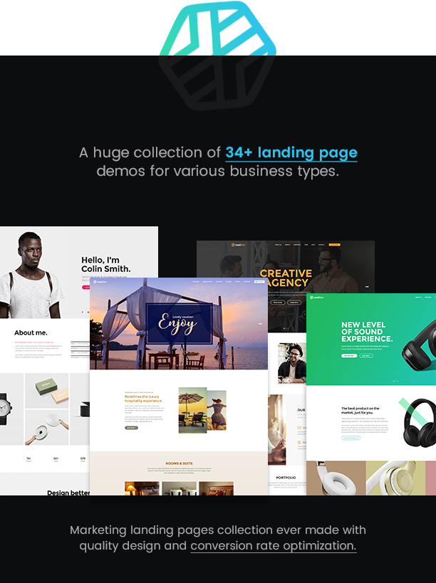 LeadGen - Multipurpose Marketing Landing Page Pack with Page Builder - 6