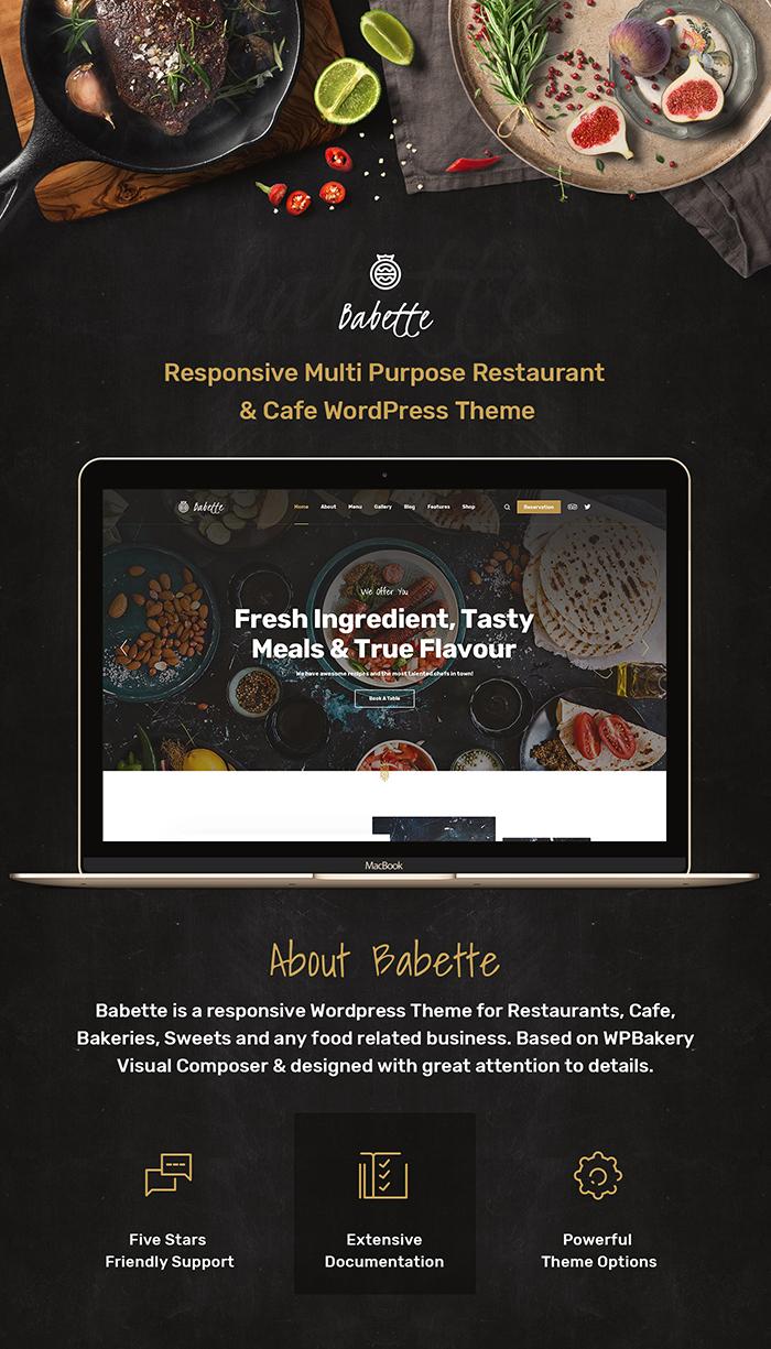 Babette - Restaurant & Cafe WordPress Theme - 4