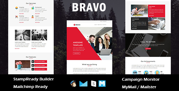 Pixo - Multipurpose Responsive Email Template With Online StampReady Builder Access - 4