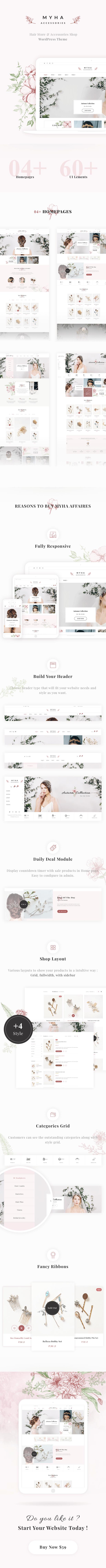 Myha - Accessories Store & Hair Shop WordPress theme 16