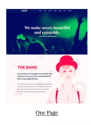 Music & Band Responsive Website Template - Duotone - 2