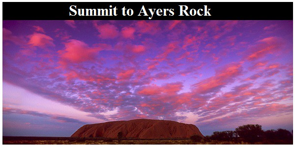 Summit to Ayers Rock