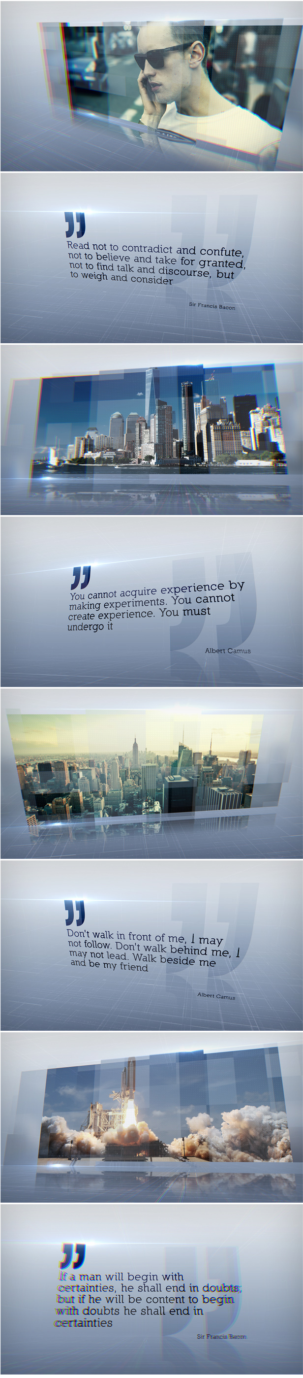 Quotes Slideshow Titles After Effects Template