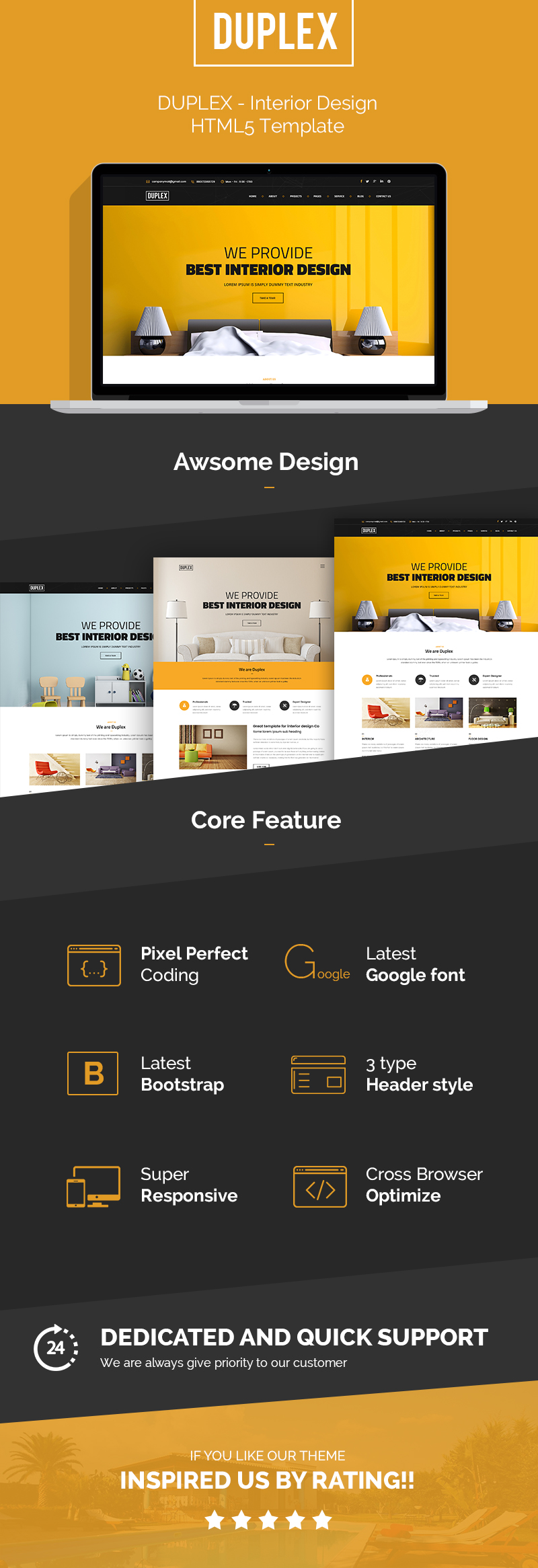 Duplex - interior and architecture design Template by template_path