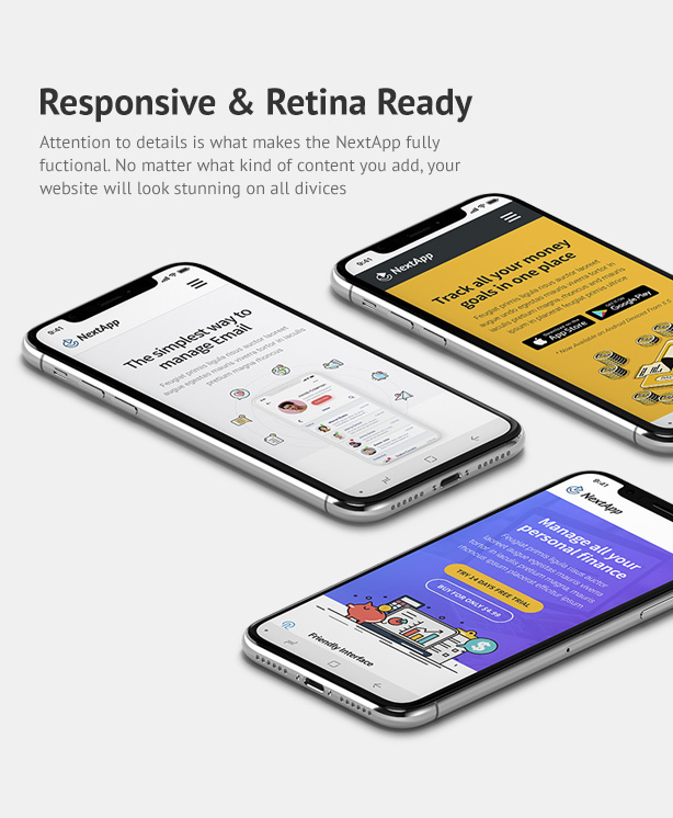 NextApp - App Landing WordPress Theme - 4