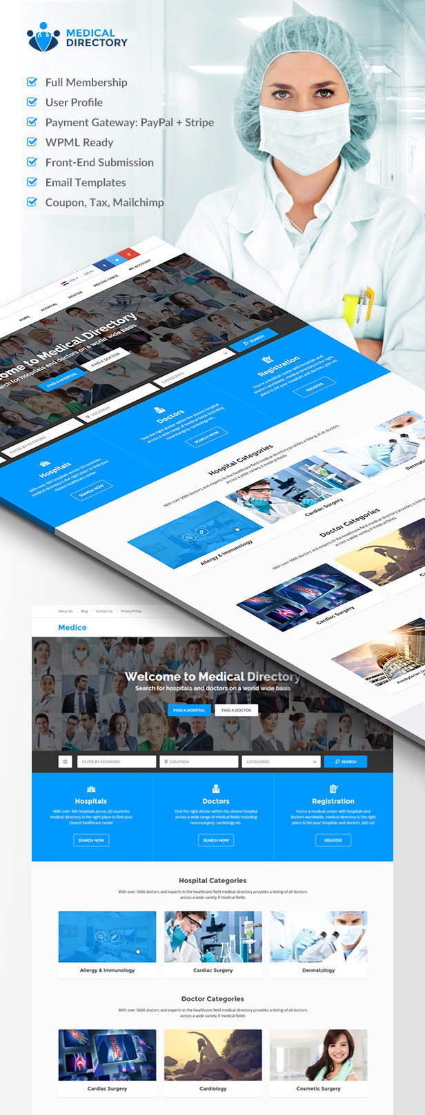 Medical Directory - Hospitals & Doctors Listing Theme - 2