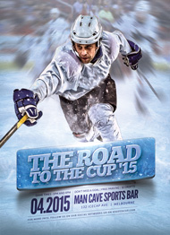 Design Cloud: Hockey Road to the Cup '15 Flyer Template