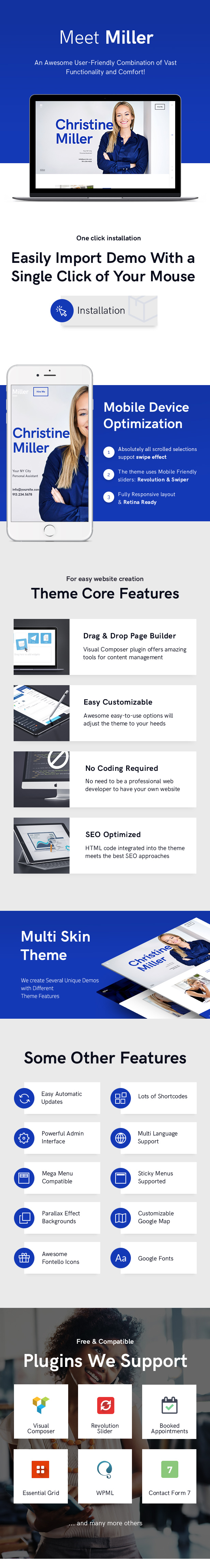 Miller | Personal Assistant & Administrative Services WordPress Theme - 1