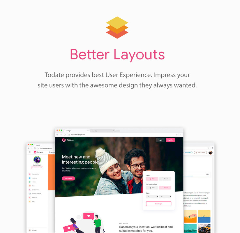 Todate - The Ultimate QuickDate Theme - 3