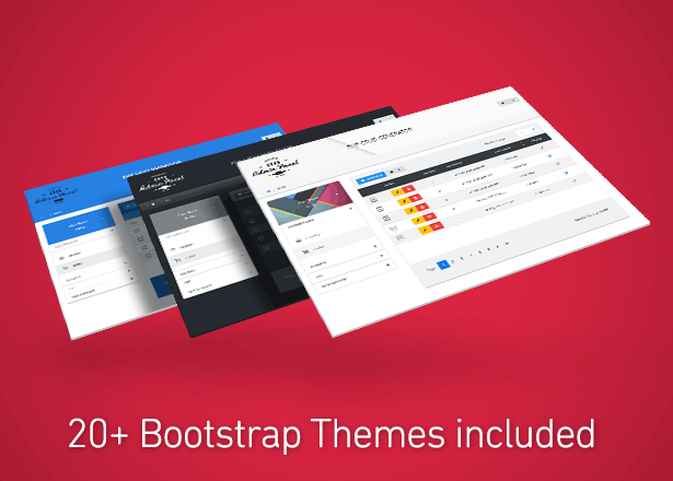 20  Bootstrap themes included