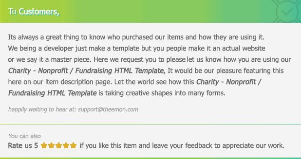 Charity - Nonprofit/NGO/Fundraising HTML Template - 3
