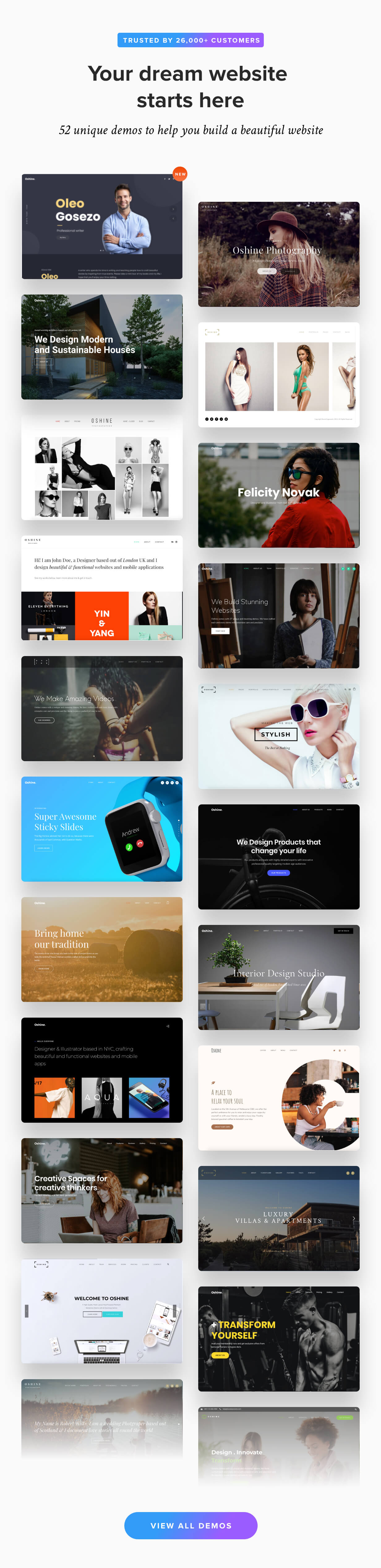 Oshine Multipurpose Creative Wordpress Theme By Brandexponents Themeforest