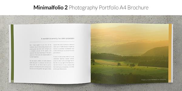 Minimalfolio 2 Photography Portfolio A4 Brochure