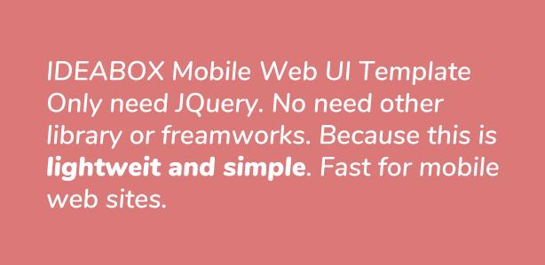 Ideabox - Mobile Web UI Template - 1