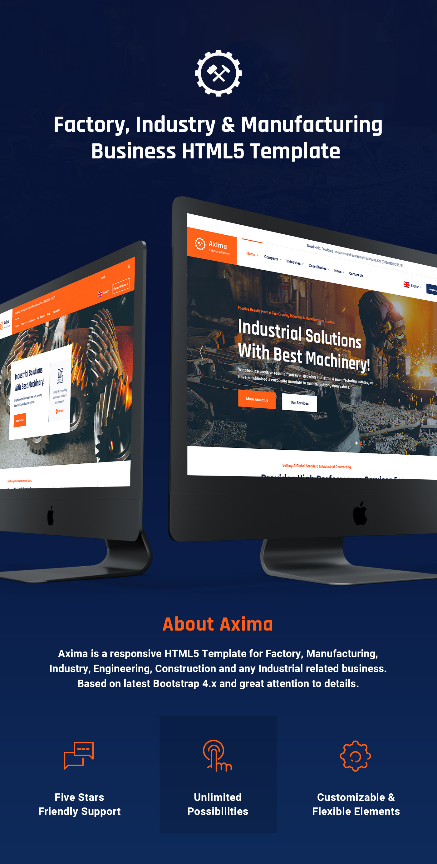 Axima - Factory and Industry HTML5 Template - 5