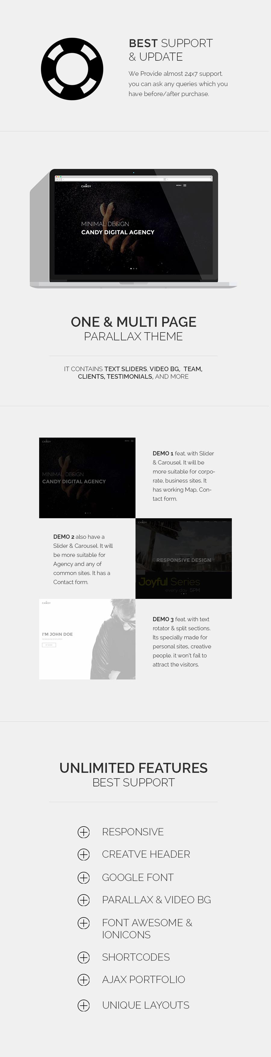 Candy | One & Multi Page HTML - 2