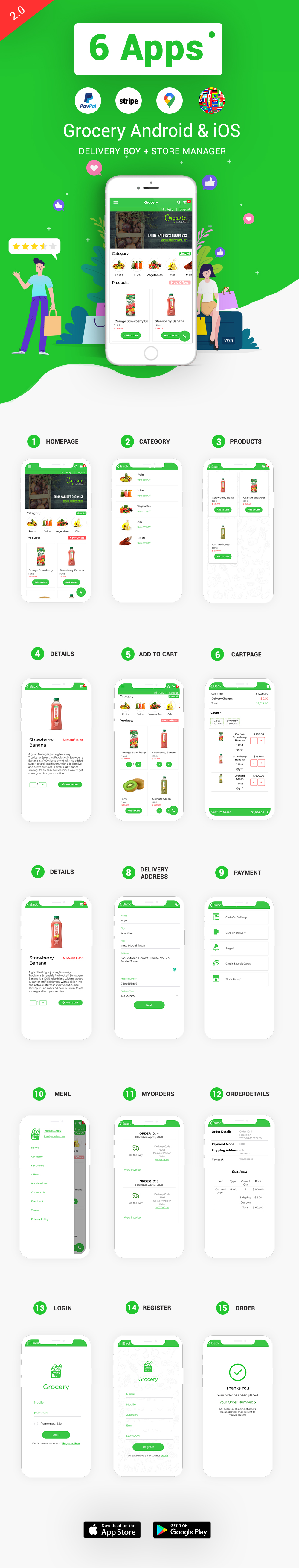 grocery app with admin panel
